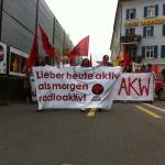 Einzelne Falkenmitglieder am SchülerInnenstreik gegen AKWs