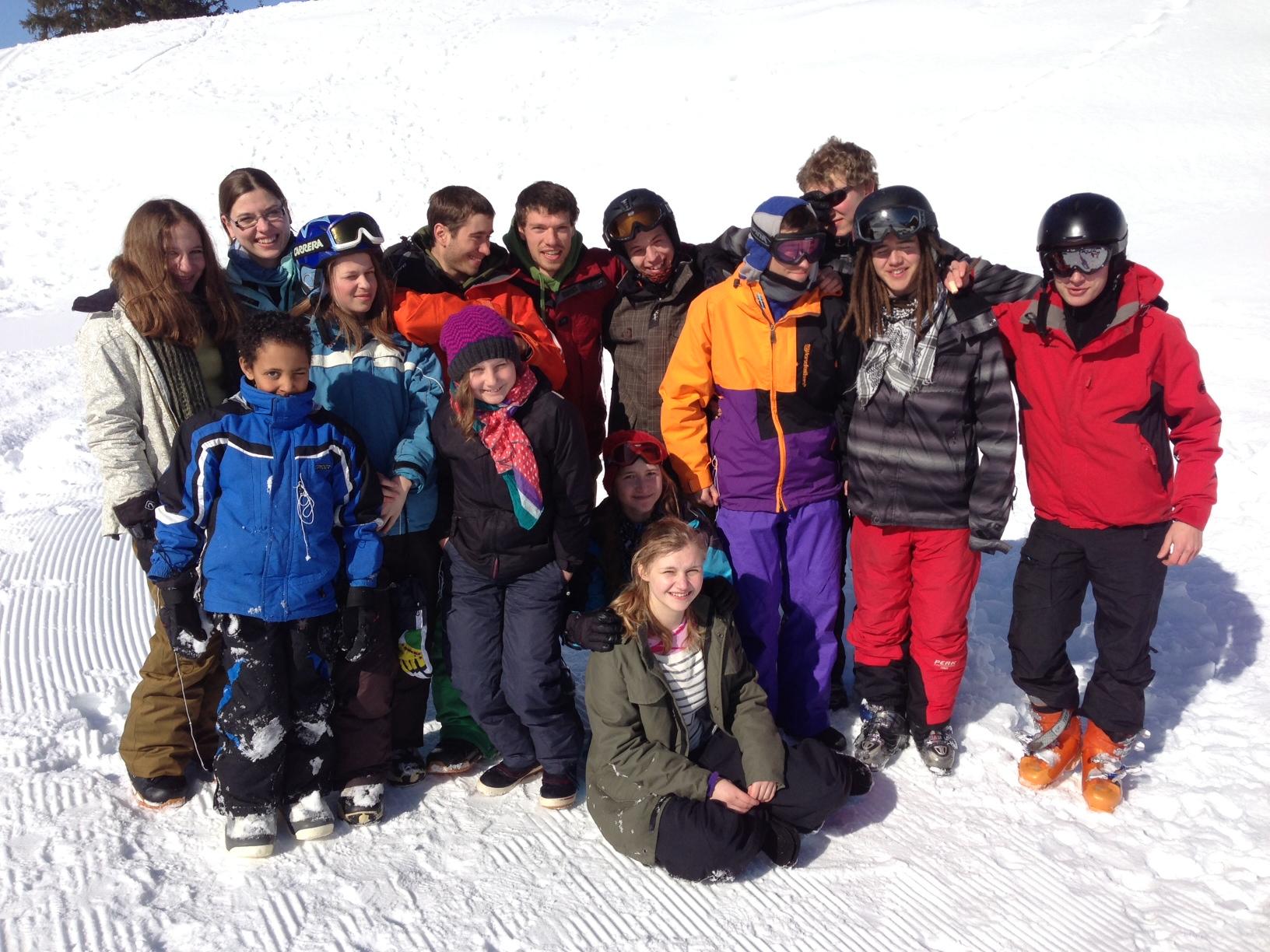 Skitag 2013: Die Falken fliegen in die Berge