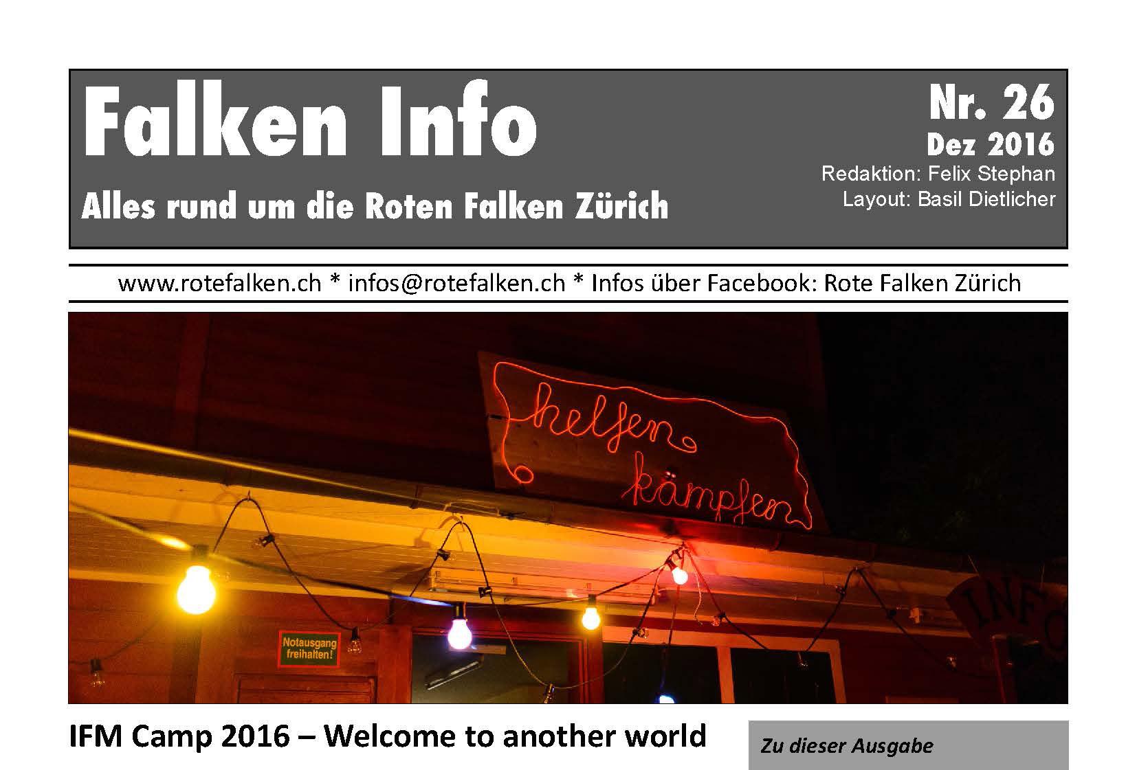 Neues Infoblatt Nr. 26 erschienen (Dez 2016)