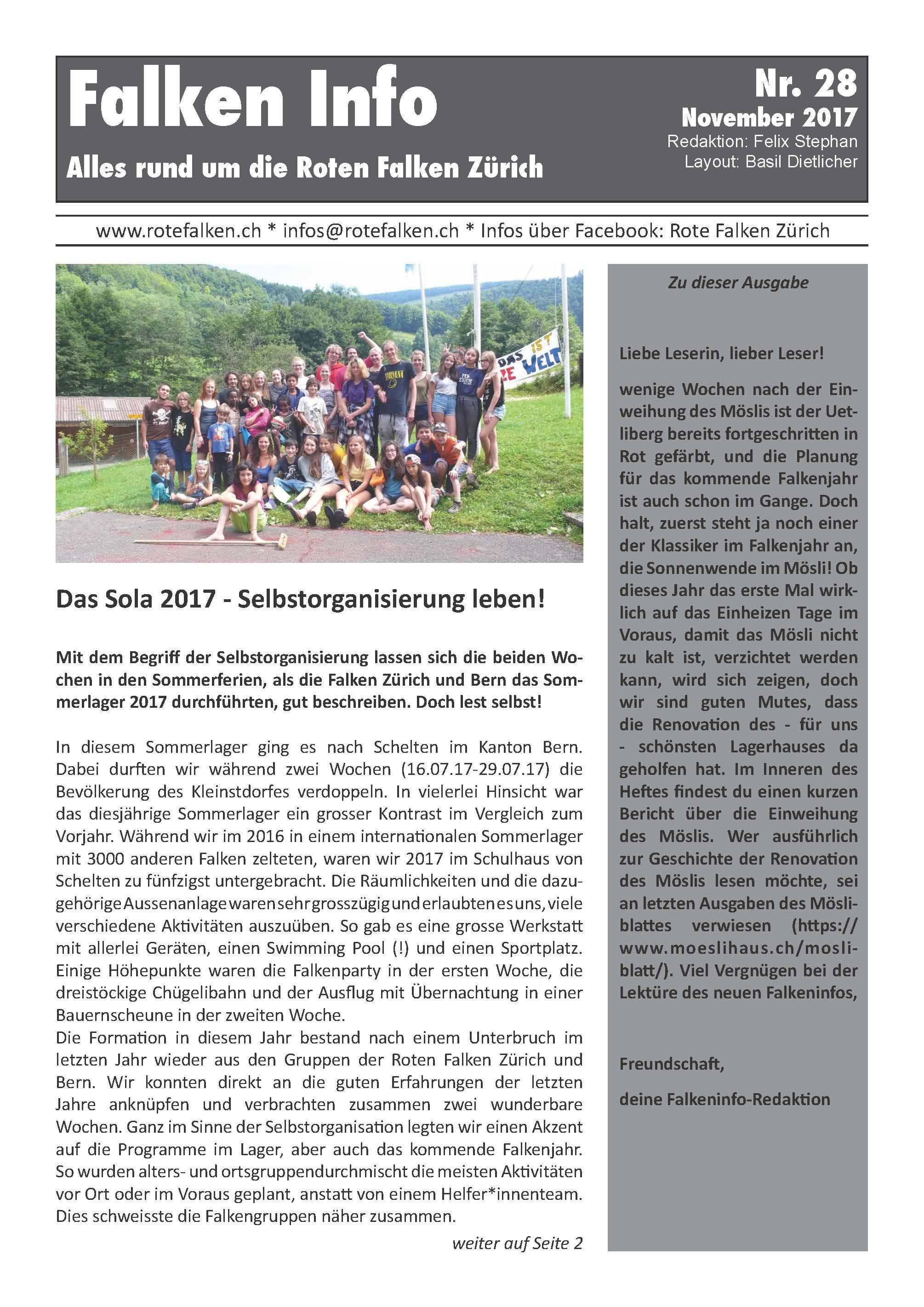 Neues Infoblatt Nr. 28 erschienen (Nov 2017)